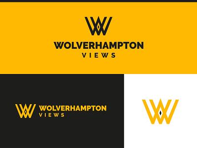 Wolverhampton Views Monogram Logo city midlands west midlands staffordshire design identity logo logo design badge illustration typography branding monogram logo monogram wolverhampton