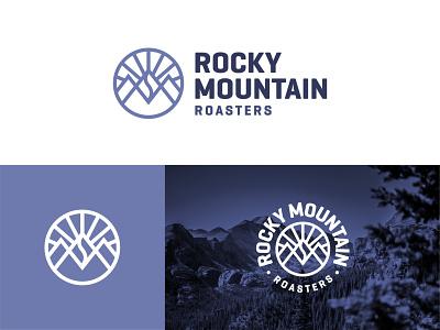 Rocky Mountain Roasters Logo design logo design logo badge typography branding coffee branding logo mark logo type lockup coffee badge coffee coffee logo colorado