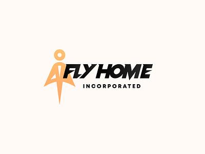 Fly Home Incorporated Logo boldicon logo modernism take off culture symbol symbolism iconography logo modernism bold aeroplane airplane brand culture air airline typography incorporated inc flying fly
