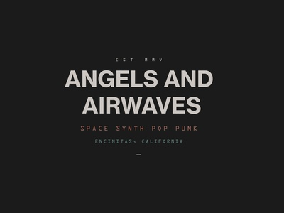 AVA  Space Synth Pop Punk branding retro punk music rock californial san diego space style experiment typography band angels and airwaves