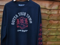 Outta This Town Handshake Long sleeve T-shirt