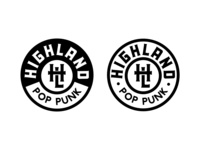 High Land Pop Punk Badge