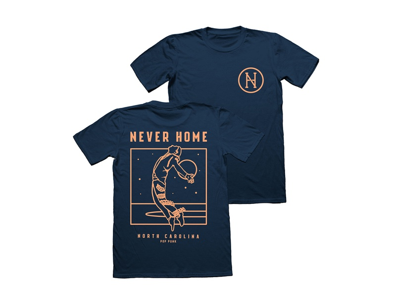 c340c615bc2 Never Home T-shirt Design by Jake Warrilow on Dribbble