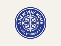 A New Way Home Compass Badge