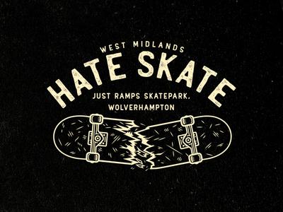 Hate Skate T-shirt Design