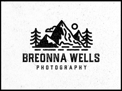Breonna Wells Photography Logo ⛰️🌲 nature brand identity brand design brand logo design logodesign logotype pine tree sun photography branding branding typography logo mountain logo scene typography photography logo photography trees mountain