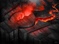 potterDesigns logo in lava