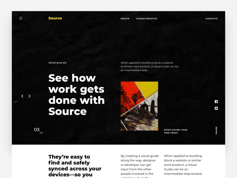 Source Wireframe Kit website site ui web design web ui design