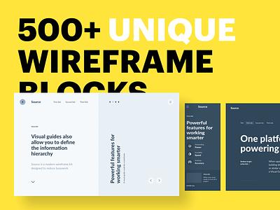 Source Wireframe Kit product interface ui design design website web ux ui web design