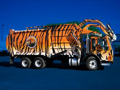 Tiger Sanitation Garbage Truck