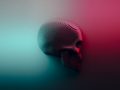 Sliced style skull. concept blender3d blender simple artwork illustration color 3d design abstract art skull a day skull art skull abstract 3d art