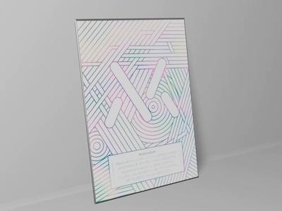 Materialism vector poster design.