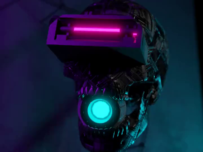 Cyberskull 2077 animated. With sound.