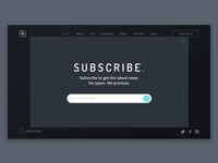 Subscribe Form Concept