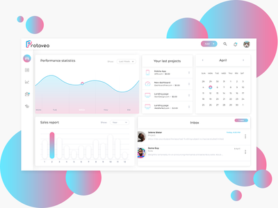 Protoveo - The best of Task Managers. web dash board design task manager gradient ux ui