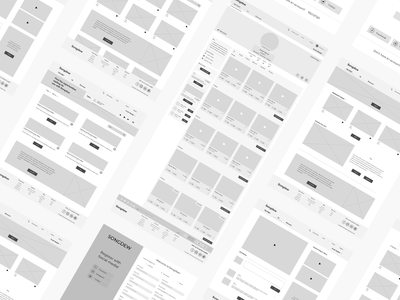 Songdew - With love to music. user friendly interface usability web music wireframe ux