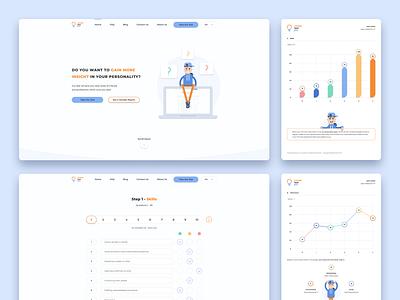 Redesign of the website for online testing careers page careers career test testing logo design custom illustrations figma wireframe ux ui design