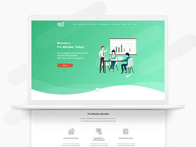 Page redesign vector illustration web design app landing ux page ui