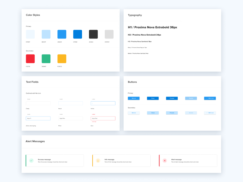 Style Guides figma user interface style guide