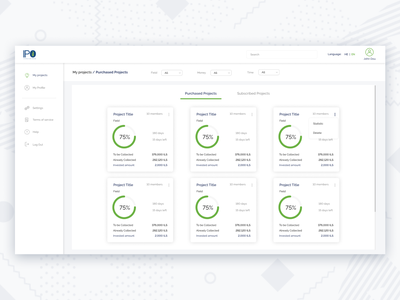 Dashboard for IPO project analytics dashboard statistic charts dashboard ui ux design