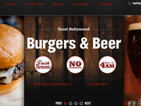 Stout Burgers and Beers Website