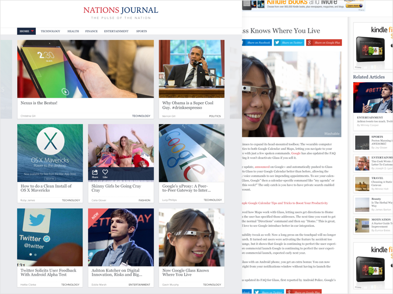 Nations Journal social editorial advertising grid blog business