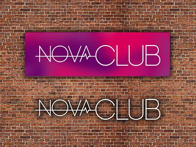 NovaClub logo club colorful flat trendy city gym