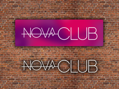 NovaClub logo club colorful flat trendy city gym