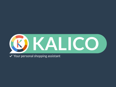 Kalico logo logo startup colorful flat design chatbot