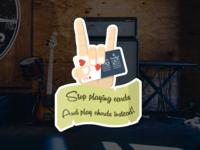 Pick4Song - Rock hand sticker