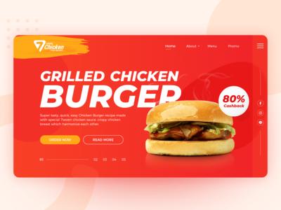 7Seven Burger Landing Page Concept