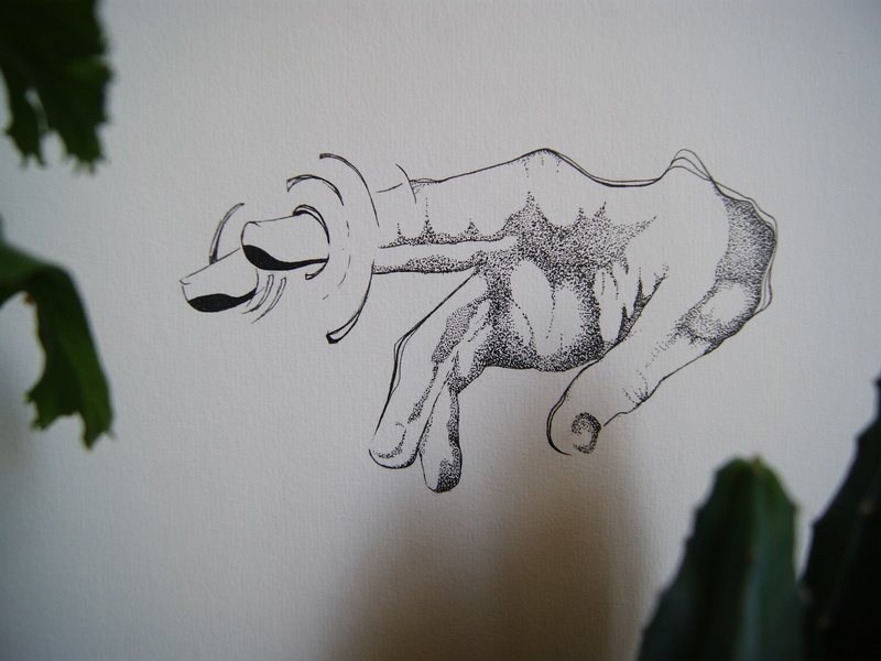 Hand ink drawing visual art lines dot sketching art graphic underwater illustrator illustration hand firstpost sketch