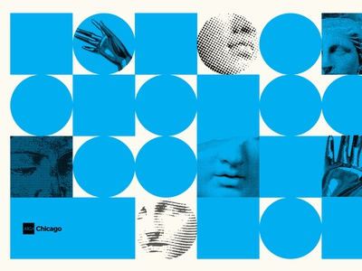 """AIGA """"Think Like People"""" Event Graphics blue poster illustration design typography chicago"""