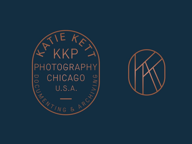Photographer's Badge photography logo badge monogram seal chicago oval
