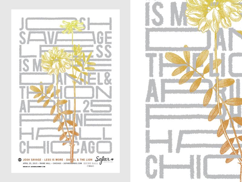 Sofar Gig Poster chicago gig poster poster flower type concert