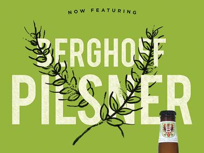 Berghoff Posters - v.1 chicago typography type barley pilsner beer poster beer berghoff