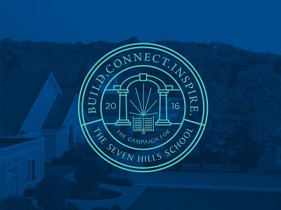 Fundraising Campaign Logo academic seal badge school