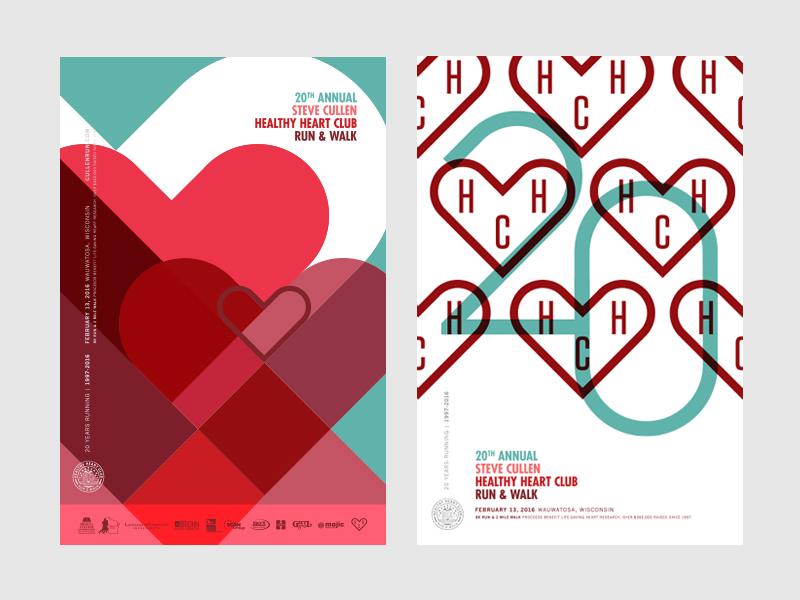 Anniversary Run Posters milwaukee healthy run poster poster race poster run hearts 20 heart
