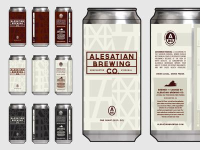Alesatian Brewing Crowlers brewery beer label beer can beer crowler