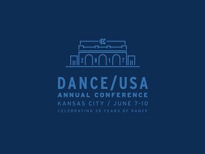Kansas City Conference Logo building logo architecture linework monolinear conference logo dance logo kc dance missouri kansas city