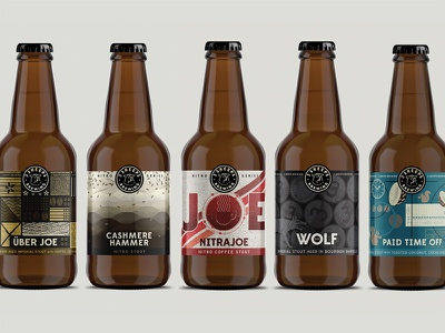 3 Sheeps Brewing – 2017 wisconsin brewery beer bottle beer label label stout coffee 3 sheep illustration bottles beer