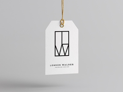 London Walder Interior Design mid century typography interior chicago tag geometric window lw monogram badge interior design