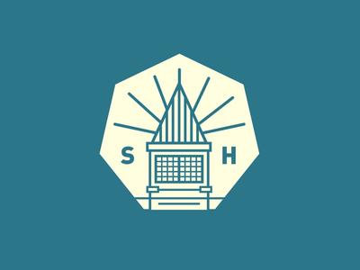 """""""Seven"""" school logo aqua academic badge school seven"""