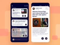 Newsfeed app shot