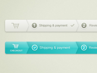 Checkout progress bar - Web UI checkout progress ui app shopping