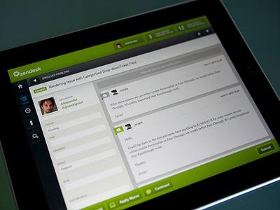 Zendesk - iPad - UI/UX/iOS ipad app ui