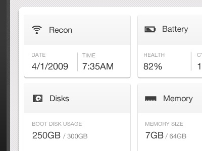 Dashboard close up - iOS UI app ipad mobile dashboard