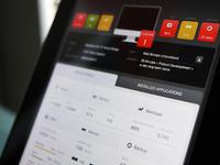 Dashboard stats - iPad - UI/UX/iOS