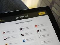 On-boarding: Subscription setup - iPad/iOS