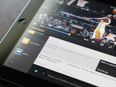 Nowbox media player - iPad/iOS ipad tv social ios timeline channel fun entertainment player media
